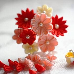 Kanzashi – textilní kytičky
