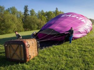 Let balonem nad Prahou