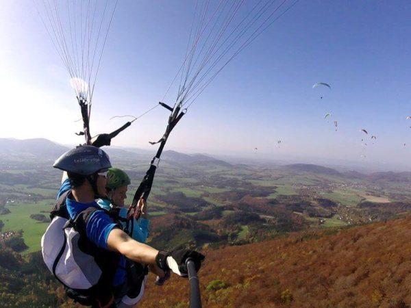 Foto:tandemový paragliding