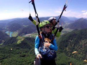 Tandemový paragliding – vyhlídkový let