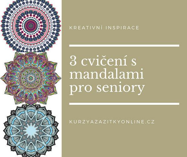 Fotografie 3 cvičení s mandalami pro seniory