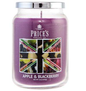 PRICE´S MAXI svíčka ve skle Apple & blackberry, hoření 150h