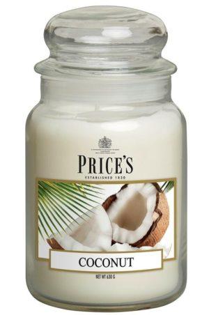 PRICE´S MAXI svíčka ve skle Exotický kokos, hoření 150h