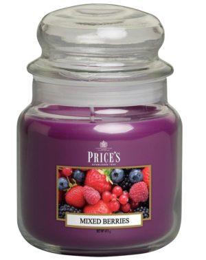 PRICE´S MIDI svíčka ve skle Voňavé lesní plody, hoření 90h