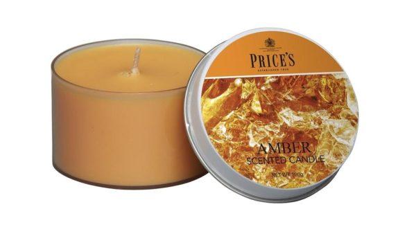 Price´s SIGNATURE vonné svíčky v plechu Smyslný jantar 123g 3ks