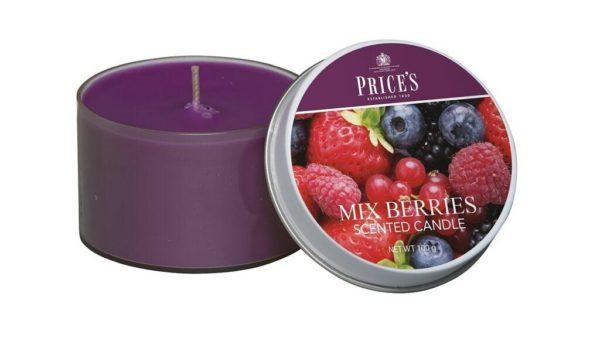 Price´s SIGNATURE vonné svíčky v plechu Voňavé lesní plody 123g 3ks