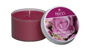 Price´s FRAGRANCE vonné svíčky Purpurová růže 123g 3ks