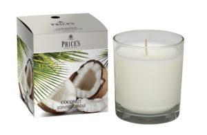 Price´s FRAGRANCE vonná svíčka ve skle Exotický kokos 350g