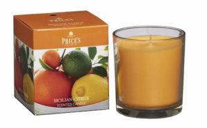 Price´s FRAGRANCE vonná svíčka ve skle Sicilské citrusy 350g