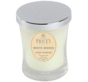 Price´s SIGNATURE vonná svíčka ve skle Bílé dřeviny střední 425g