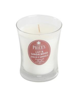 Price´s SIGNATURE vonná svíčka ve skle Lilie&santálové dřevo střední 425g