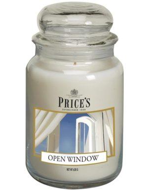 PRICE´S MAXI svíčka ve skle Otevřené okno, hoření 150h