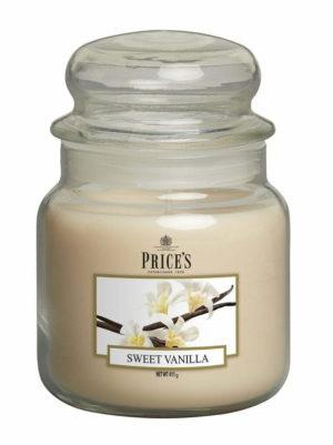 PRICE´S MIDI svíčka ve skle Sladká vanilka, hoření 90h