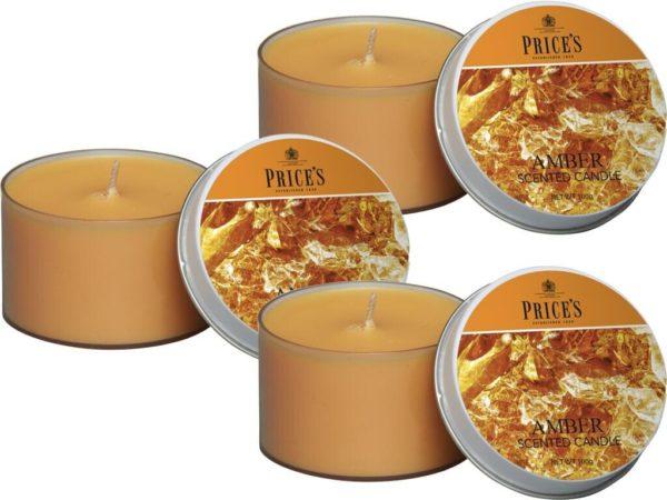 Price´s FRAGRANCE vonné svíčky v plechu Smyslný jantar 123g 3ks