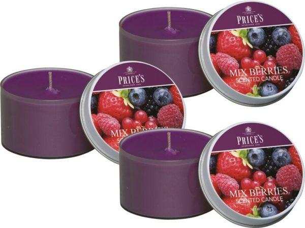 Price´s FRAGRANCE vonné svíčky v plechu Voňavé lesní plody 123g 3ks