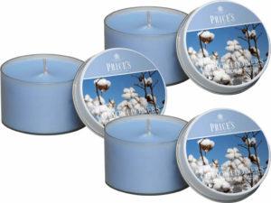 Price´s FRAGRANCE vonné svíčky Nádech hebké bavlny 123g 3ks