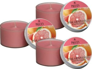 Price´s FRAGRANCE vonné svíčky Růžový grapefruit 123g 3ks