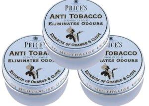 Price´s FRESH AIR vonné svíčky v plechu Anti tobacco 123g 3ks