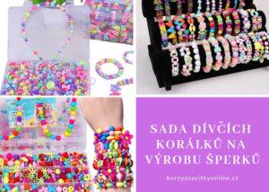 Fotografie:Sada dívčích korálků na výrobu šperků