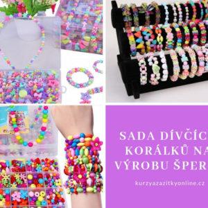 Sada dívčích korálků na výrobu šperků – různé varianty