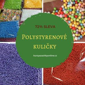 Barevné polystyrenové kuličky – 2 x 1200 ks jedné barvy