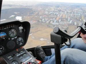 Let ve vrtulníku nad Řípem