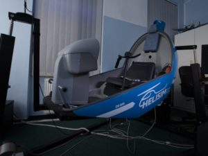 Pohyblivý simulátor helikoptéry