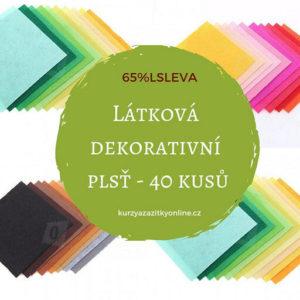 Látková dekorativní plsť/filc – 40 kusů