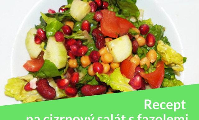 Foto: recept na cizrnový salát s fazolemi