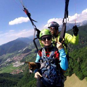 Tandemový paragliding – termický let