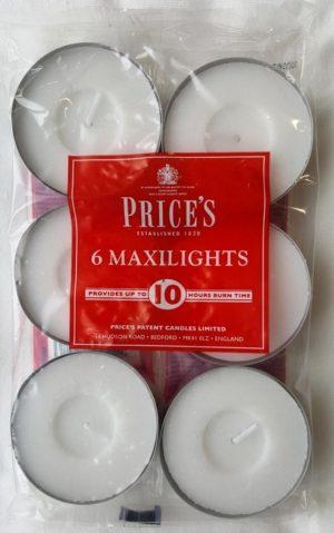 Aladino čajové MAXI svíčky bez vůně 6ks, 10h hoření