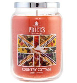 PRICE´S MAXI svíčka ve skle Country cottage, hoření 150h
