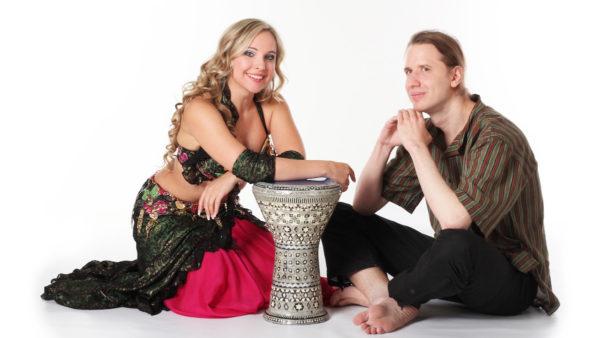 Orientální břišní tance - DRUM SOLO s bubeníkem