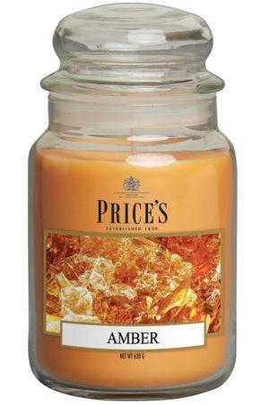PRICE´S MAXI svíčka ve skle Smyslný jantar, hoření 150h