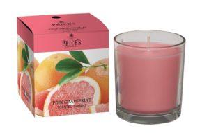 Price´s FRAGRANCE vonná svíčka ve skle Růžový grapefruit 350g