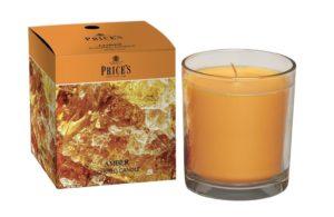 Price´s FRAGRANCE vonná svíčka ve skle Smyslný jantar 350g