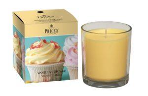 Price´s FRAGRANCE vonná svíčka ve skle Vanilkový cupcake 350g