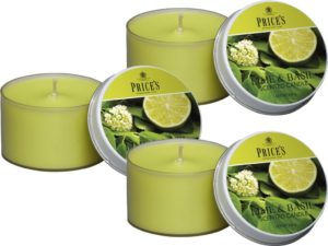 Price´s FRAGRANCE vonné svíčky Limetka&Bazalka 123g 3ks