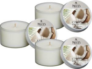 Price´s FRAGRANCE vonné svíčky Exotický kokos 123g 3ks