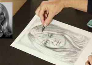 Fotografie kreslení portrétu -naučte se kreslit správně - kreslení pravou hemisférou