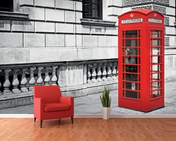 1Wall 1Wall fototapeta Londýnská telefonní budka 360x253 cm