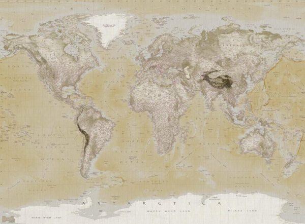 1Wall fototapeta Neutrální mapa 315x232 cm