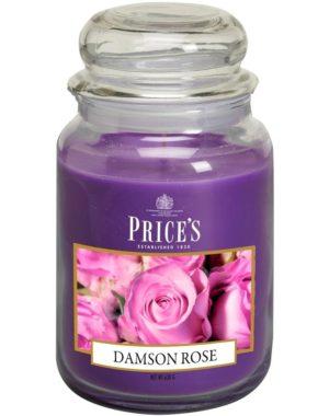 PRICE´S MAXI svíčka ve skle Purpurová růže, hoření 150h