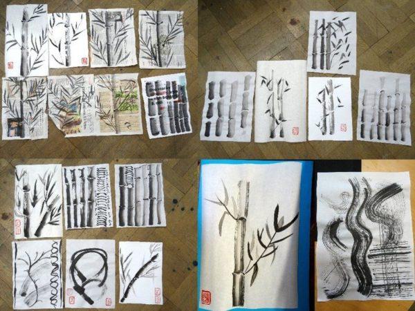 Foto: malba čínskou tuší kurz kaligrafické malby