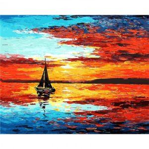 Malování podle čísel 40 x 50 cm – loď na moři