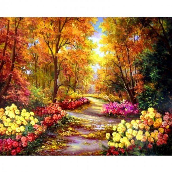 Fotografie:malování podle čísel - nádherná krajina