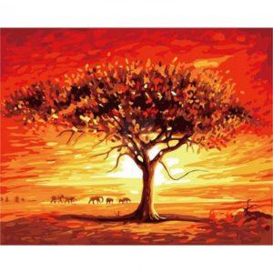 Malování podle čísel 40 x 50 cm – pouštní krajina