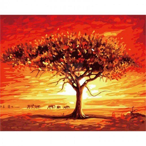Fotografie:malování podle čísel - pouštní krajina