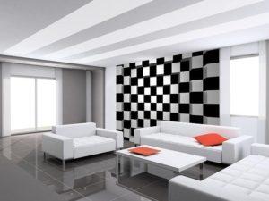 Wizard+Genius W+G vliesová fototapeta Černé a bílé čtverce 366×254 cm