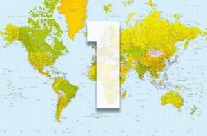 Wizard+Genius W+G Giant Art® Geografická mapa 175×115 cm